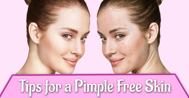 tips for pimple free skin